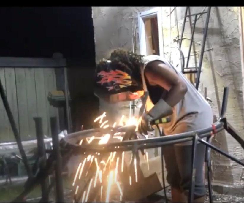 Aisha Amin, journeyperson welder